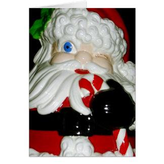 Santa Claus Ceramic Christmas Card