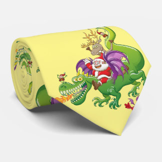 Santa Claus Changed his Reindeer for a Dragon Tie