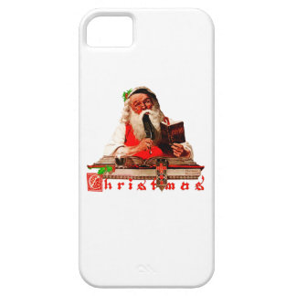 Santa Claus Checking His List iPhone 5 Covers