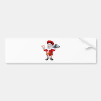 Santa Claus Chef Christmas Cartoon Character Bumper Sticker