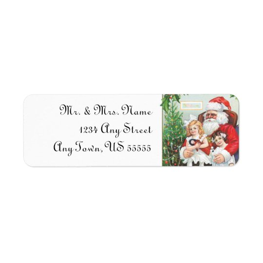 Santa Claus Christmas Address Labels