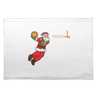 Santa Claus Christmas Basketball Player Placemat