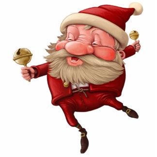 Santa Claus Christmas bells dancing Photo Sculpture Magnet