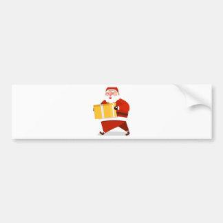 santa claus christmas bumper sticker