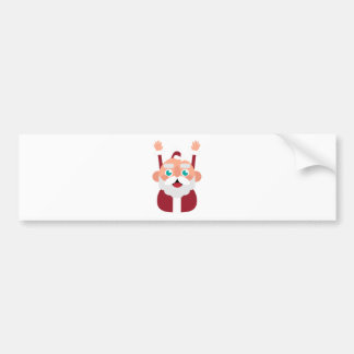 santa claus christmas bumper sticker