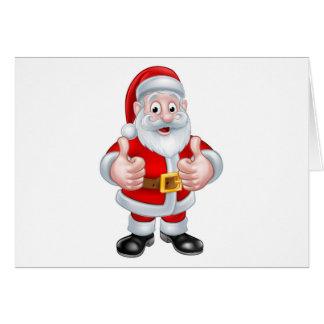 Santa Claus Christmas Cartoon Character Card