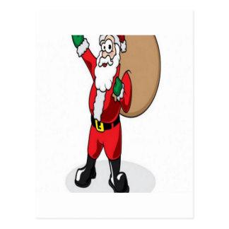 Santa claus christmas design postcards