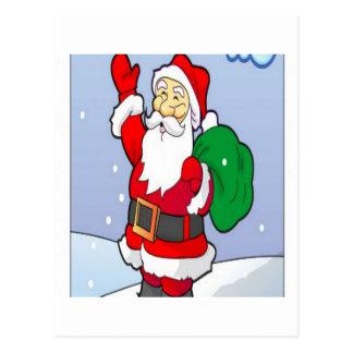 Santa claus christmas design postcard