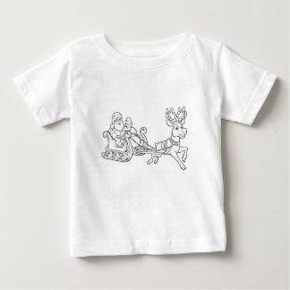 Santa Claus Christmas Fling Sleigh Sled Reindee Baby T-Shirt