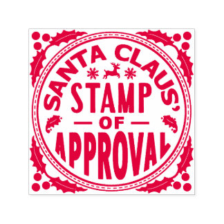 Santa Claus Christmas Funny Stamp of Approval v2
