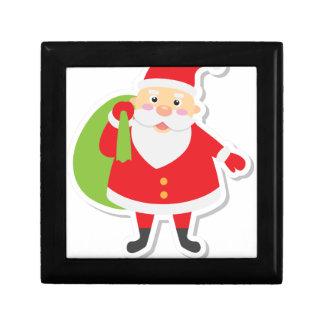 santa claus christmas gift box