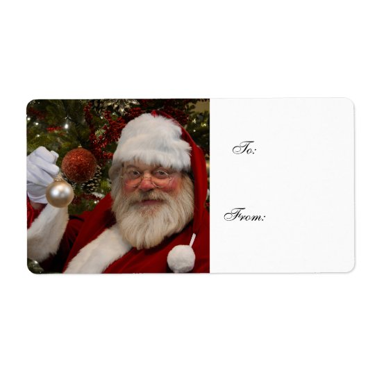 Santa Claus Christmas  Gift Label Shipping Label