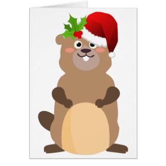 Santa Claus christmas gopher Card