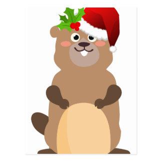 Santa Claus christmas gopher Postcard