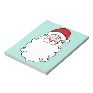 Santa Claus Christmas Holiday Notepad Gift