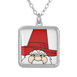 santa-claus christmas holidays joy silver plated necklace