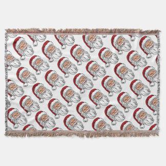 Santa Claus Christmas Illustration Throw Blanket