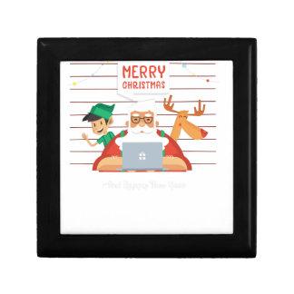 santa claus christmas jewelry box