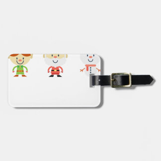 Santa Claus Christmas Luggage Tag