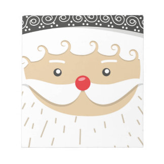 Santa Claus Christmas Motif Notepad