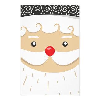 Santa Claus Christmas Motif Stationery
