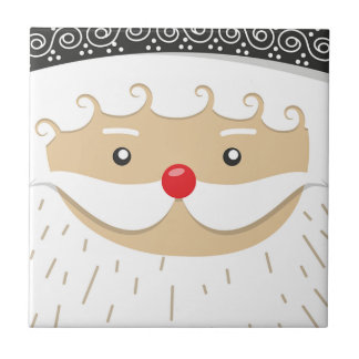 Santa Claus Christmas Motif Tile