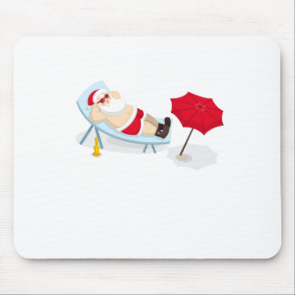 santa claus christmas mouse pad