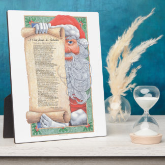 Santa Claus Christmas Plaque