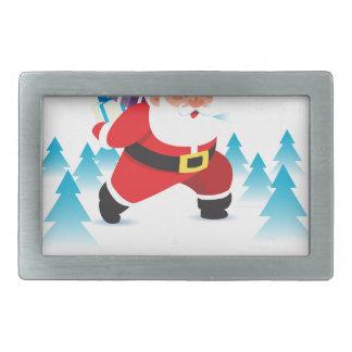 santa claus christmas reindeer snow man belt buckle