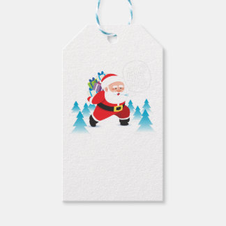 santa claus christmas reindeer snow man gift tags