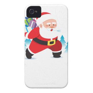 santa claus christmas reindeer snow man iPhone 4 case