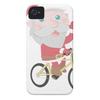 santa claus christmas reindeer snow man iPhone 4 cover