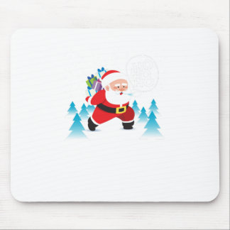 santa claus christmas reindeer snow man mouse pad