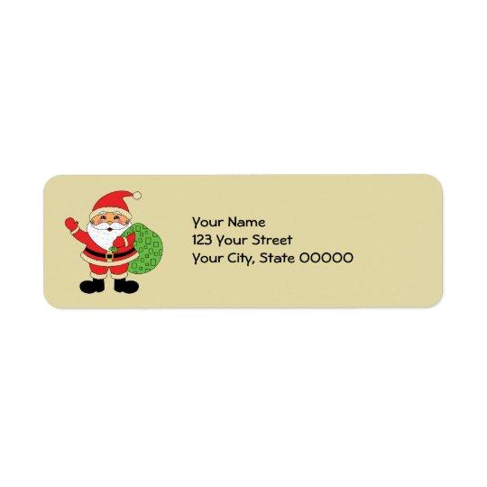 Santa Claus Christmas Return Address Label