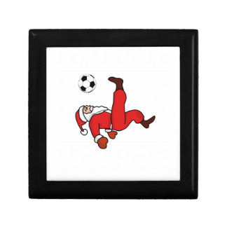 Santa claus Christmas soccer player Gift Box