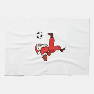Santa claus Christmas soccer player Kitchen Towel