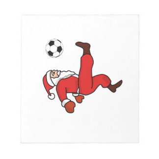 Santa claus Christmas soccer player Notepad