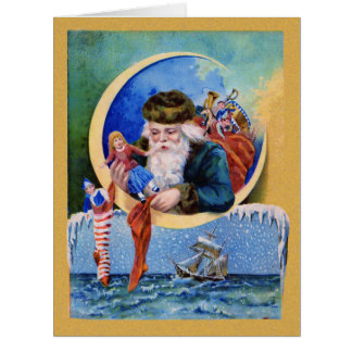 Santa Claus Christmas Toys Big Big Greeting Card