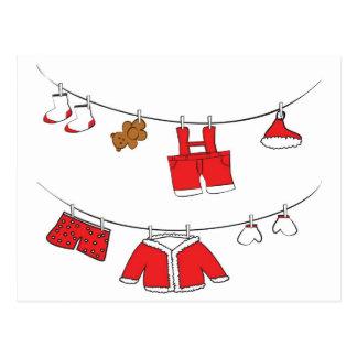 Santa Claus clothes card Postcard