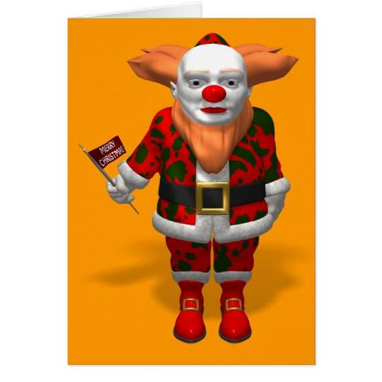 Santa Claus Clown Card