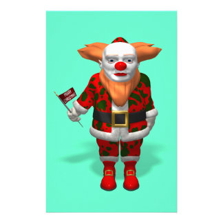 Santa Claus Clown Stationery