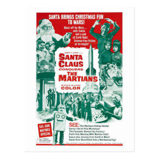 SANTA CLAUS CONQUERS THE MARTIANS POSTCARD