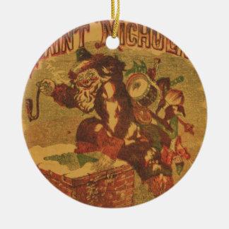 Santa_Claus_Cover_Art Ceramic Ornament