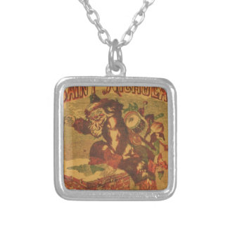 Santa_Claus_Cover_Art Silver Plated Necklace