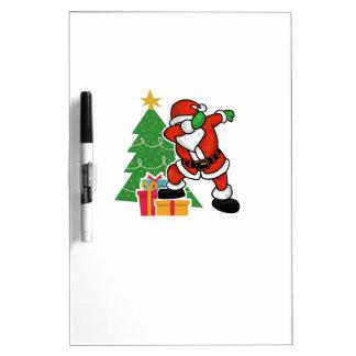 Santa claus dab christmas tree dry erase board