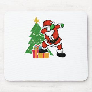 Santa claus dab christmas tree mouse pad