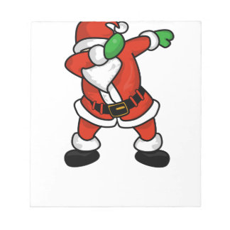 Santa Claus dab dance christmas T-shirt Notepad
