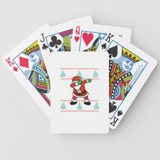 Santa Claus dab dance ugly christmas T-shirt Bicycle Playing Cards