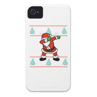 Santa Claus dab dance ugly christmas T-shirt Case-Mate iPhone 4 Cases
