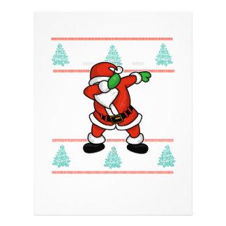 Santa Claus dab dance ugly christmas T-shirt Letterhead